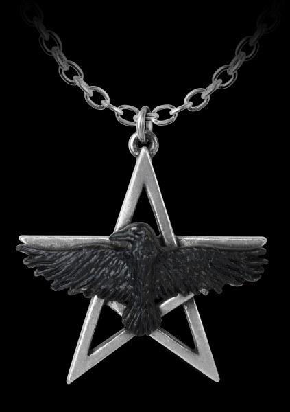 Alchemy Pentagramm Halskette mit Rabe - Ghost-seer
