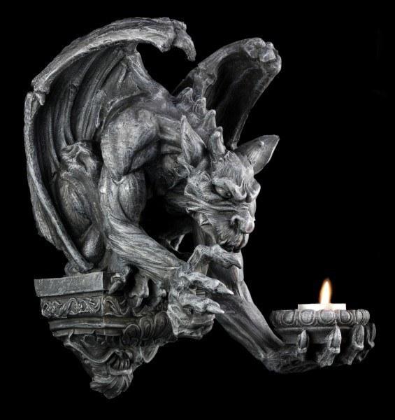 Gargoyle Wand-Teelichthalter