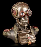 Steampunk Skeleton Bust with Boxes - The Rear Admiral