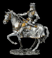 Pewter Knight - On Horse with long axe
