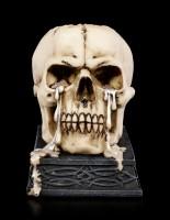 Totenkopf Teelichthalter - Tears of Time