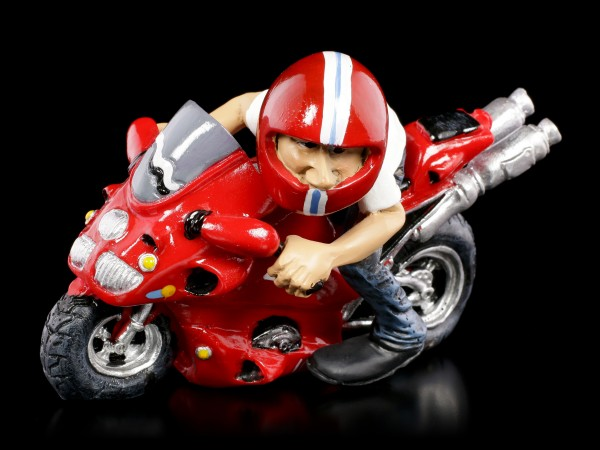 Funny Job Figurine - Motorcycle Racer