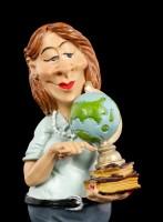 Funny Job Figurine - Teacher with Globe