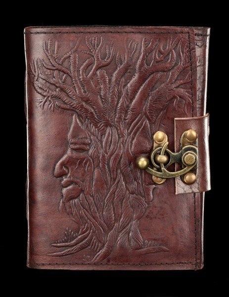 Leder Notizbuch mit Schloss - Tree of Wisdom