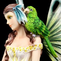 Sea Fairy Figurine with Parrot