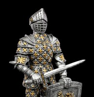 Knight Figurine with Sword and Lion Shield