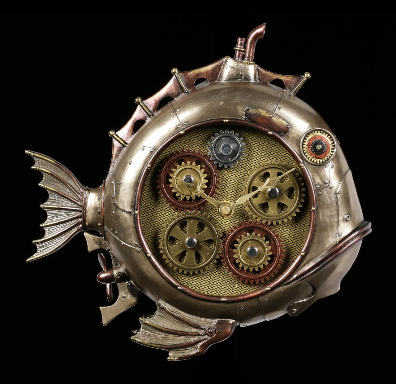 Steampunk Fisch Uhr