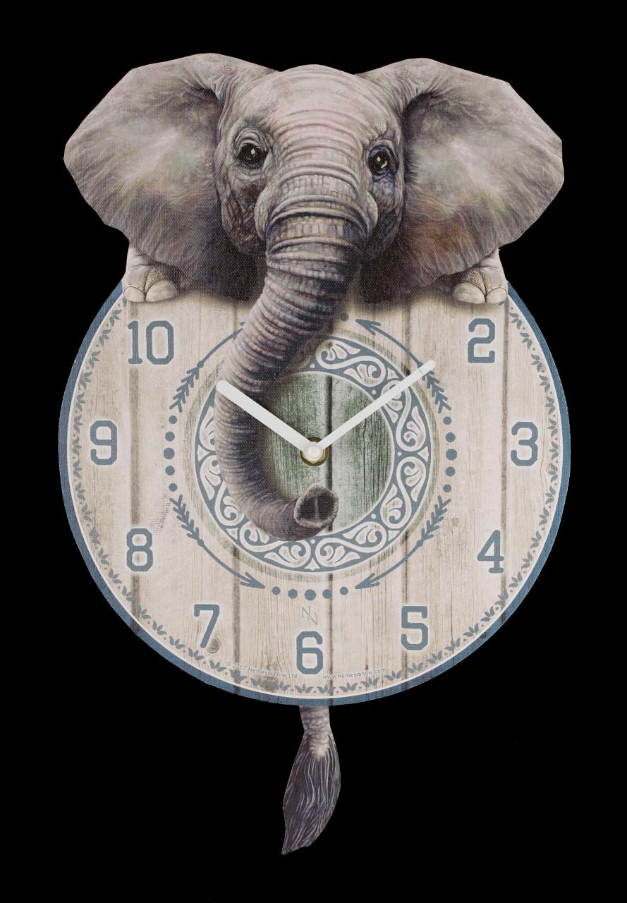 Wanduhr mit Elefant - Trunkin Tickin