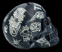 Totenkopf - Tattoo Spardose - schwarz