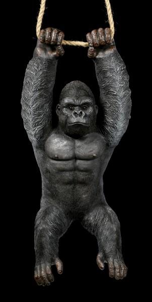 Garden Figurine - Gorilla hanging on Rope