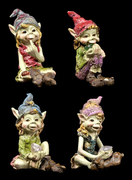 Pixie Figurines - Look what I have - Set of 4