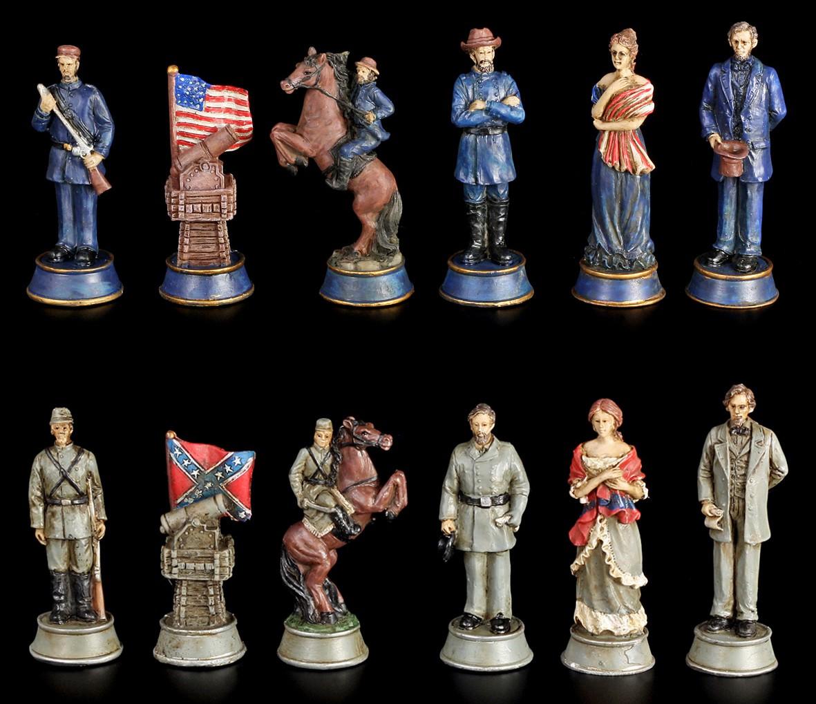 Bürgerkrieg Schachfiguren - Civil War