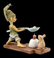 Pixie Goblin Figurine - Popcorn over Candle