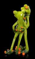 Lustige Frosch Figuren Arm in Arm