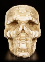 Pixel Skull - Bone colored