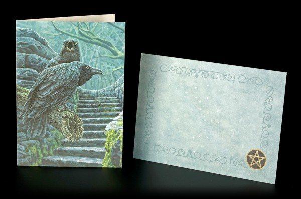 Grußkarte mit Raben - Watchmen inkl. Umschlag