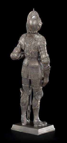 Ritter Figur mit Hellebarde und Löwenrüstung