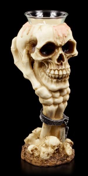 Totenkopf Teelichthalter - Licht des Lebens