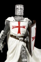 German Knight Templar Figurine with Sword and Shield