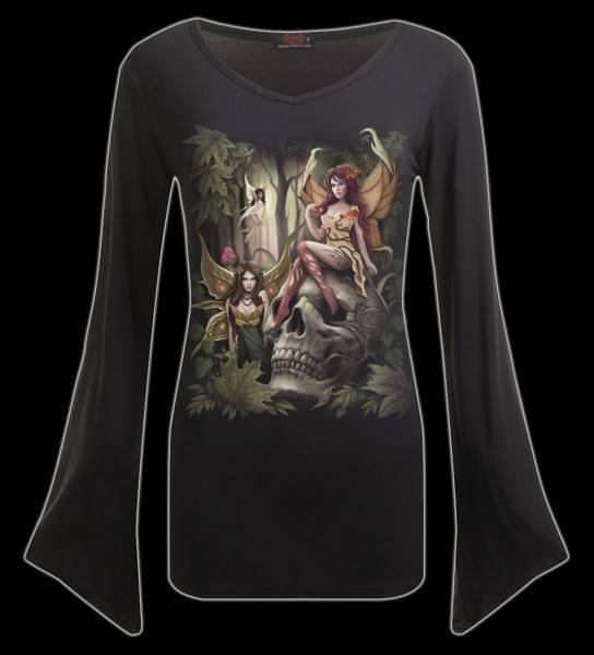 Langarmshirt Damen mit Elfe - Woodland Fairy