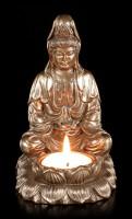 Teelichthalter - Meditierender Buddha