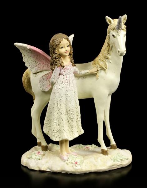 Traum Fee Figur - Elfe mit Einhorn