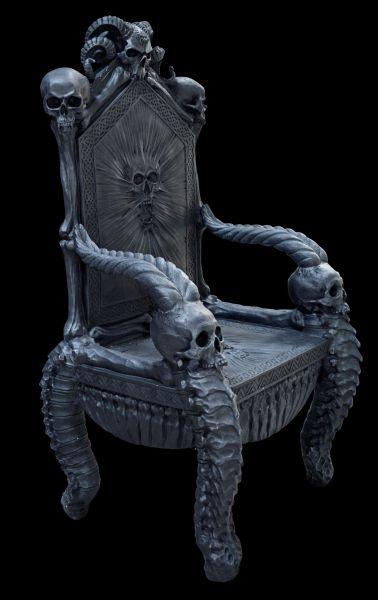 Totenkopf Thron Stuhl - Gothic
