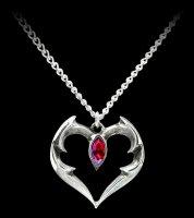 Alchemy Gothic Halskette - Bat Heart