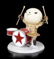 Skeleton Figurine - Rockstar Lucky on Drums