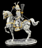 Japanese Samurai with Horse and Bow - Pewter Figurine