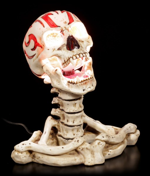Skelett Tischlampe - Tribal Anarchy