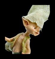 Pixie Goblin Figurine with Goose - Let me go