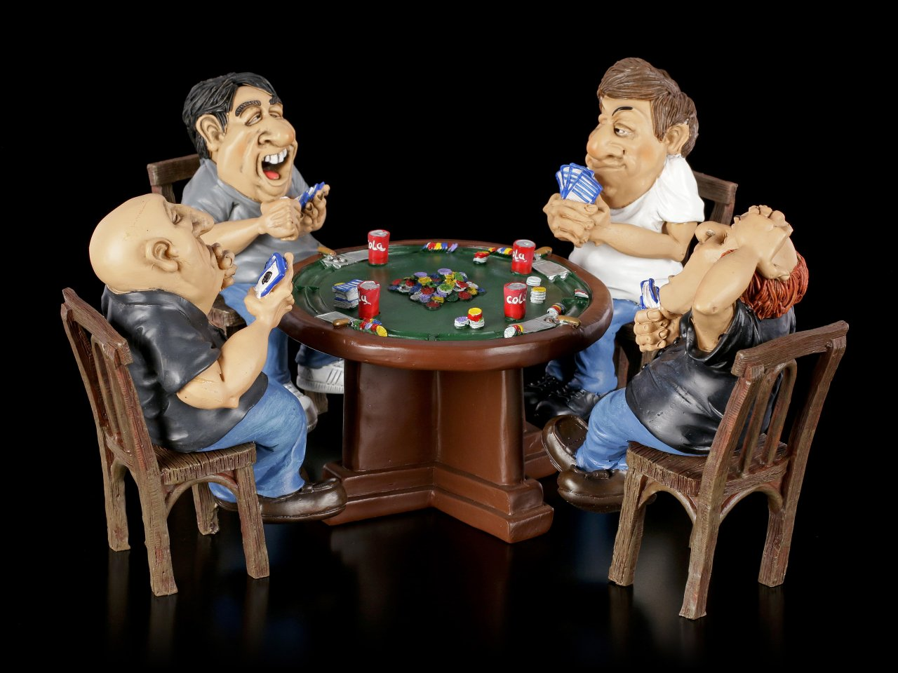 Funny Sports Figurines - Poker Night