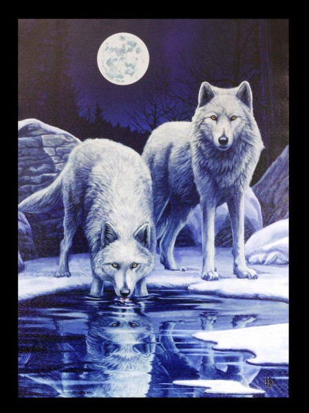 Small Canvas with Wolves - Warriors of Winter
