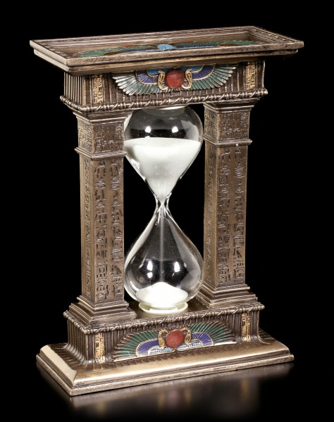 Egyptian Sand Clock between two Pillars
