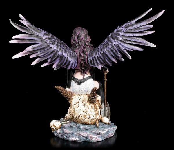 Guardian Angel Figurine - Siraia sitting on Skull