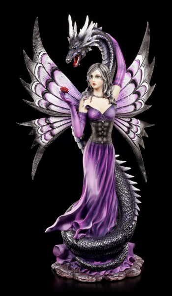 Elfen Figur mit Seeschlange - Guardian's Embrace