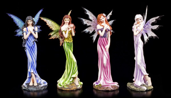 Fairy Figurines Set of 4 - Four Colors of Joy