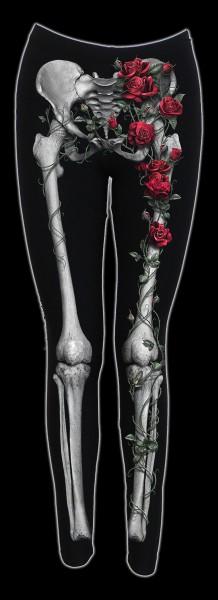 Leggings mit Skelett-Optik - Rose Bones