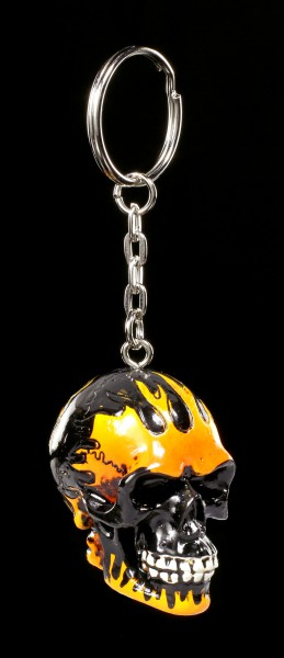 Skull Keyring - Flame Head