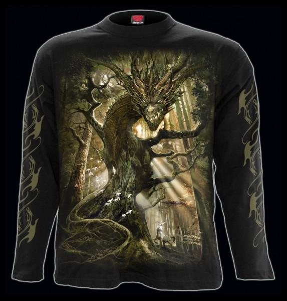 Spiral Drachen Langarmshirt - Dragon Forest
