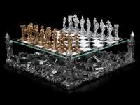 Schachspiel mit Zinnrittern