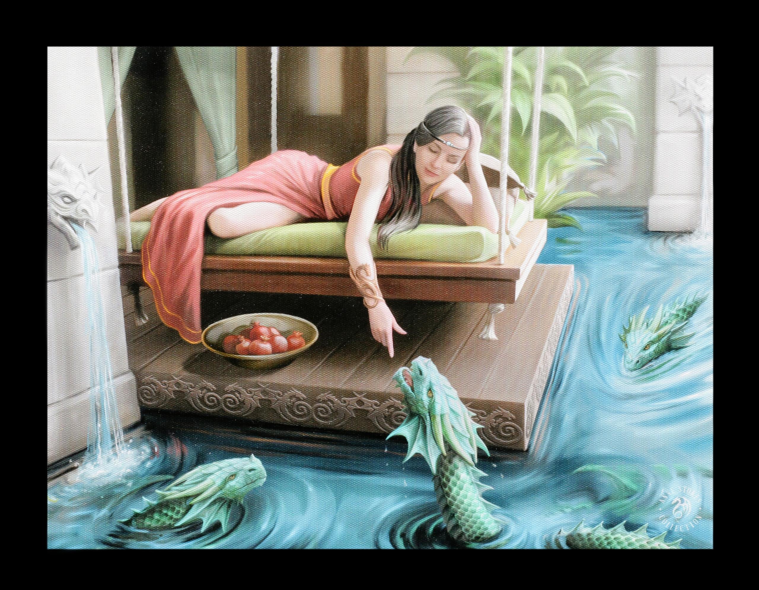 Anne Stokes Wasserdrache Leinwanddruck