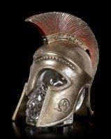 Skull Bottle in Spartan Helmet