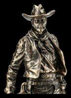 Cowboy Figur mit Sattel und Gewehr