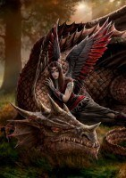 Dragon Greeting Card - Winged Companions