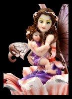 Elfen Figur - Saelind in Blume mit Baby