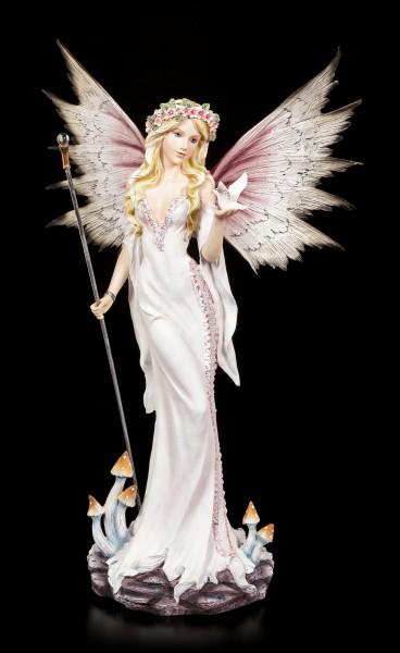 Fairy Figurine - Isahia with a white Pigeon