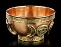 Ritual Schale aus Kupfer mit Dreifach Mond