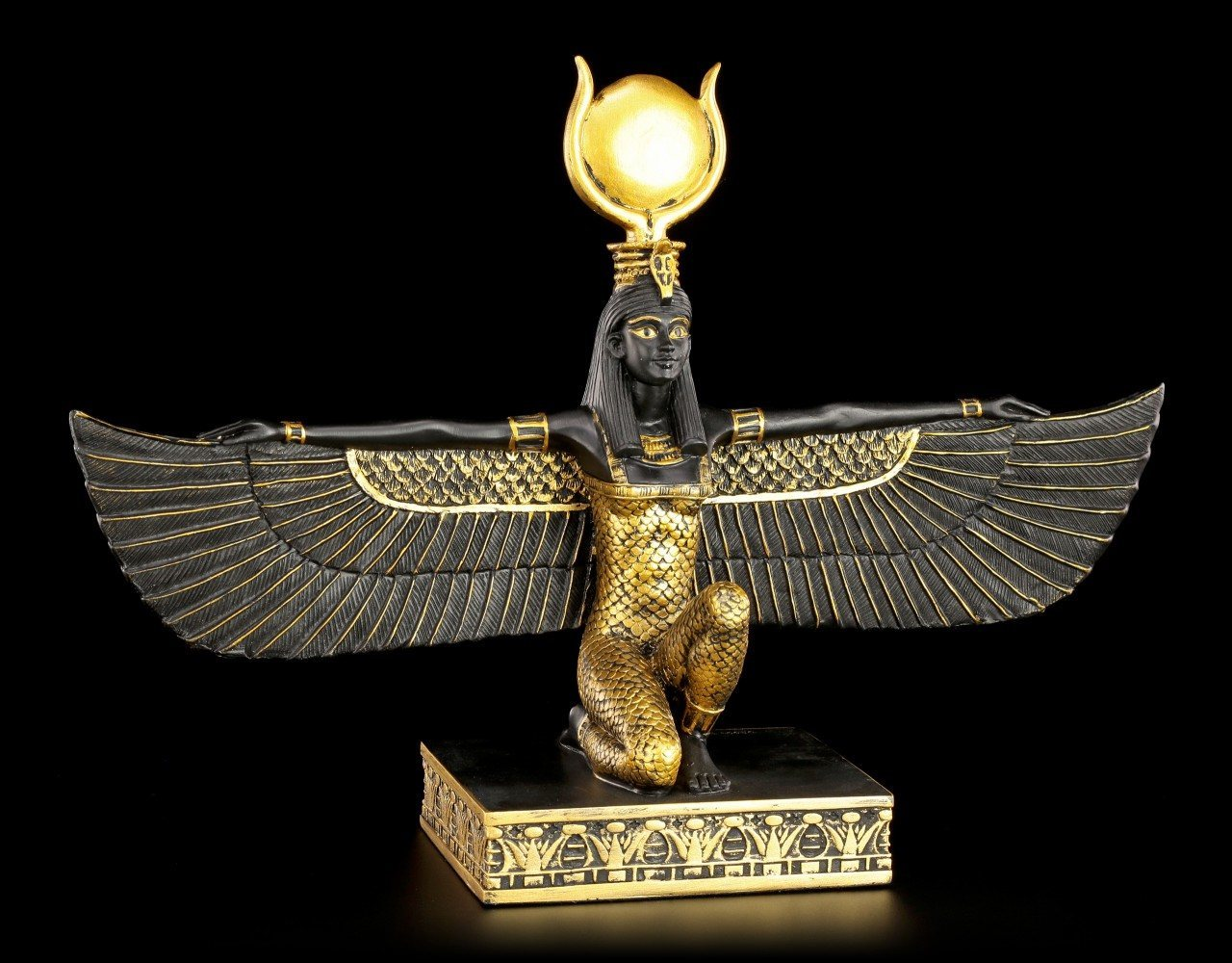 Egyptian Figurine - Isis - Black-Gold